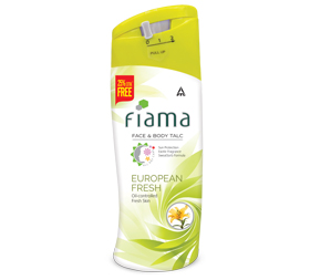 image of Fiama Face and Body Talc, European Fresh